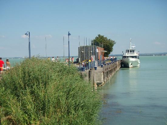 Lake Balaton: Photo 1. The harbour of Tihany.