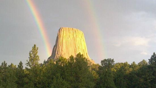 Devils Tower Lodge : Taken from the dining room at Devil's Tower Lodge!