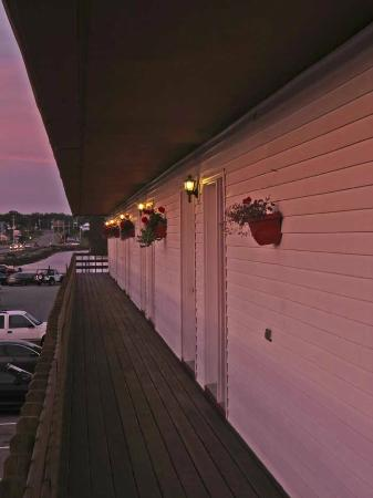 Machias River Inn: Upstairs facing the street, before dawn.