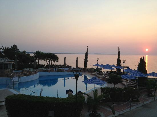 Poseidon Palace: View from balcony of room in Apartment