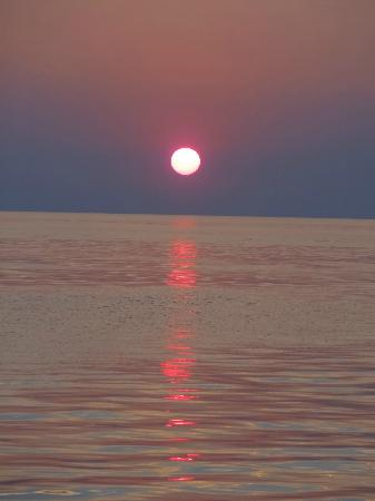 South Haven, MI: Sunset on the lake