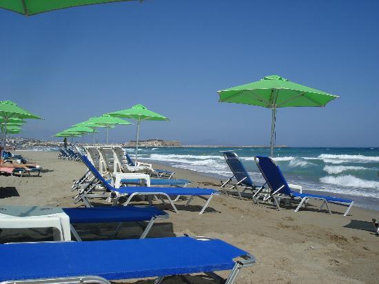 Marel Apartments, Rethymnon,Crete, Beach