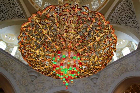 one of the largest chandelier in the world - Picture of Sheikh ...