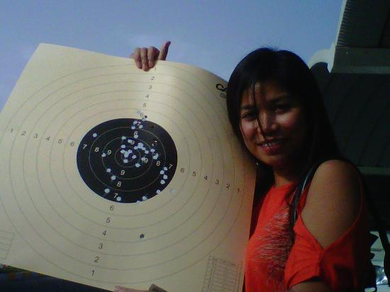 Caracal Shooting Club: Not bad for a first-timer, listening to my trainer did pay off.