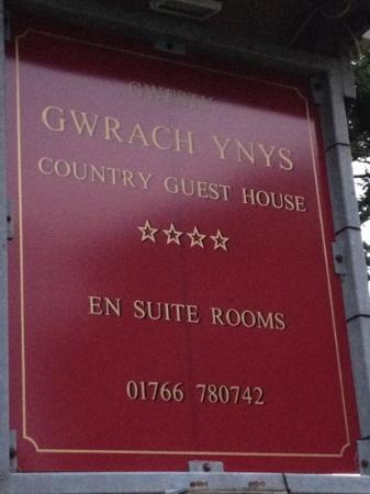 Gwrach Ynys: Name Board