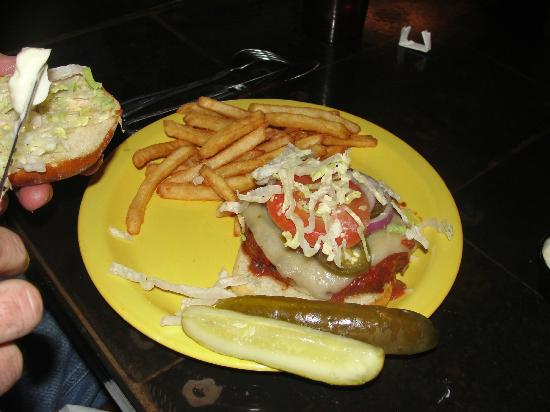 Z Fun Factory: Looks are deceiving, the bun was extremely soggy. Sent it back for a fresh one. Fries over-seaso