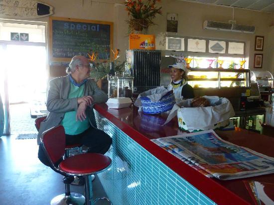 Nina's Real Food: Barstools at the counter.