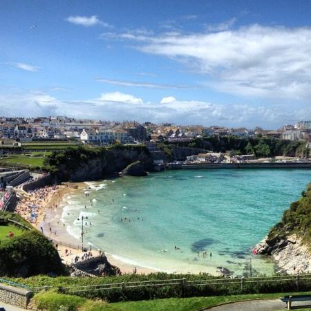 view from my room at the Tregella Hotel Newquay