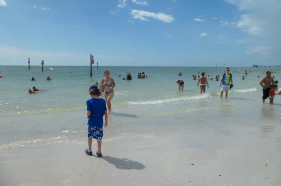 Clearwater Beach: testing out the water