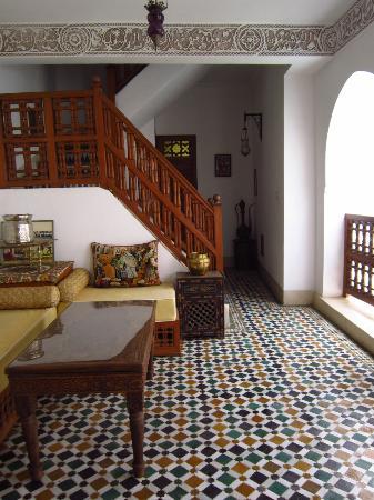 Riad Zineb: 二階の共有スペース