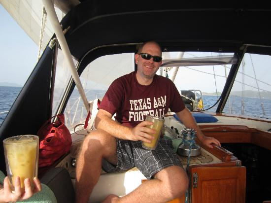 La Boheme Charters: Enjoying a Painkiller on La Boheme