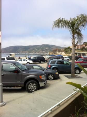 Avila Lighthouse Suites: parking lot - view from oceanfront room