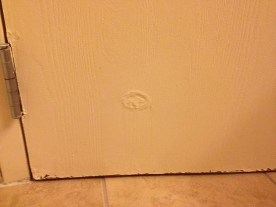Red Lion Hotel Kennewick Columbia Center : rotted bathroom door