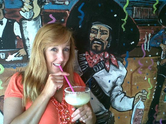 Taco & Tequila: Having Margarita at Taco N Taquila (not the big 48oz sorry!)