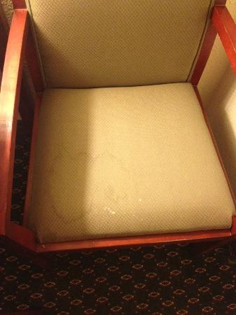 Holiday Inn Express & Suites Minneapolis Airport-Mall Area: Dirty, stained chair in my room. Classy.