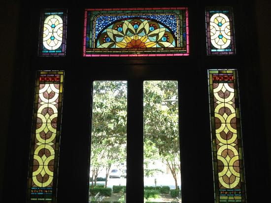 Wentworth Mansion: Stained glass by Louis Comfort Tiffany