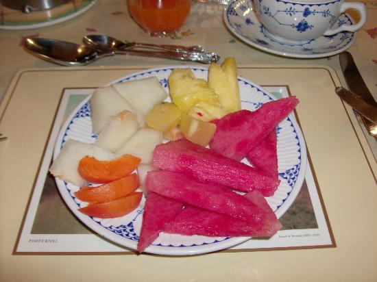 Penny Airey- No.38 Bed & Breakfast: My fruit plate - yes, all this just for 1 person!