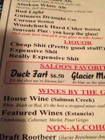 Red Dog Saloon: what's in a duck fart?