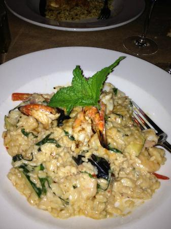 Asiago's Downtown : Lime shrimp and seafood risotto