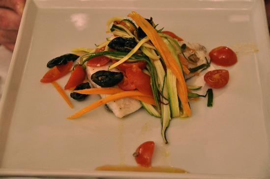 caffe universale: GF sea bass with veggies.