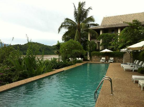 Mekong Estate: 25 meter pool with waterfall