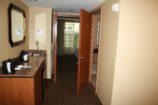 doors to bedroom picture of embassy suites by hilton. Black Bedroom Furniture Sets. Home Design Ideas