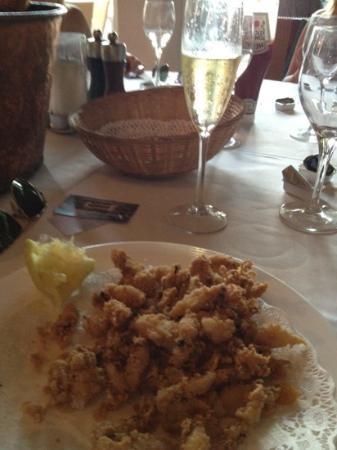 Restaurant Corb Mari: baby squid