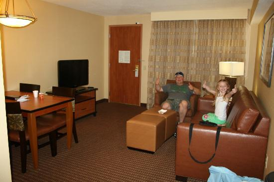 living room picture of embassy suites by hilton anaheim. Black Bedroom Furniture Sets. Home Design Ideas