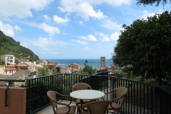 Hotel Villa Steno: View from our patio/balcony