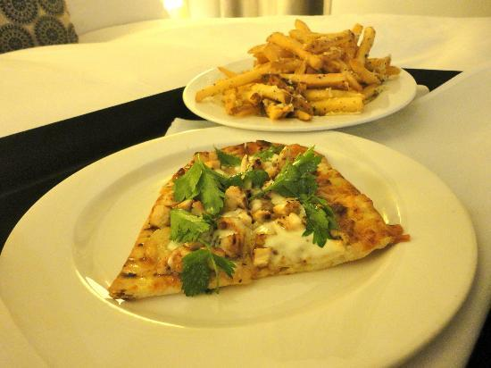 Padre Hotel: Chefs Flatbread with Truffle Fries! Delicious!