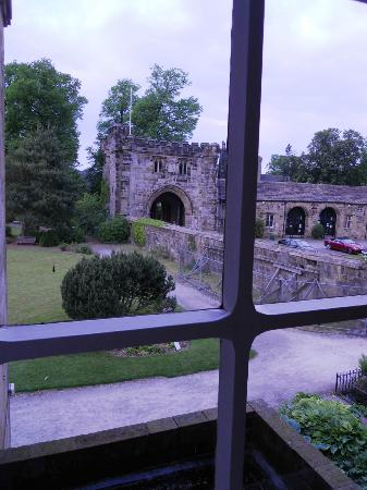 Whalley Abbey: The view from my room.