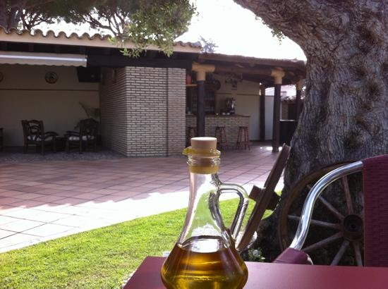 Hotel Mariantonia: Breakfast under the olive tree