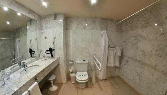 Foto de hotel bahia tropical almu car ba o habitaci n for Lavabos para minusvalidos