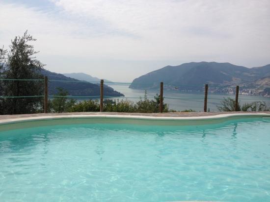 Agriturismo El Giardi: udsigten over Lago d'Iseo fra haven