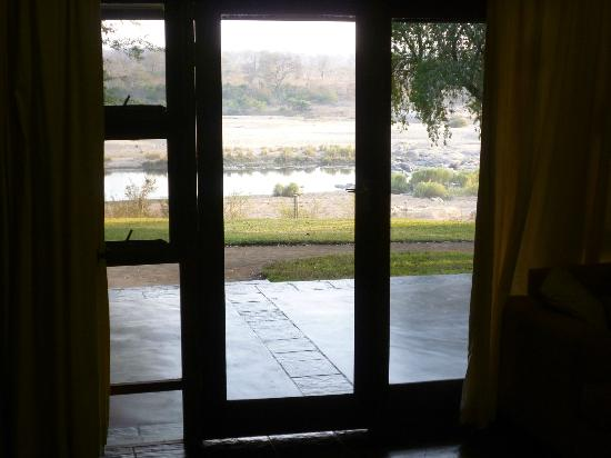 Mjejane River Lodge: View from inside my room - what a wakeup!