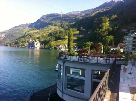 Hotel Terrasse Am See: Die Terrasse über dem Speisesaal