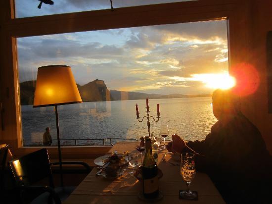 Hotel Terrasse Am See: Abendessen vor wunderschöner Natur