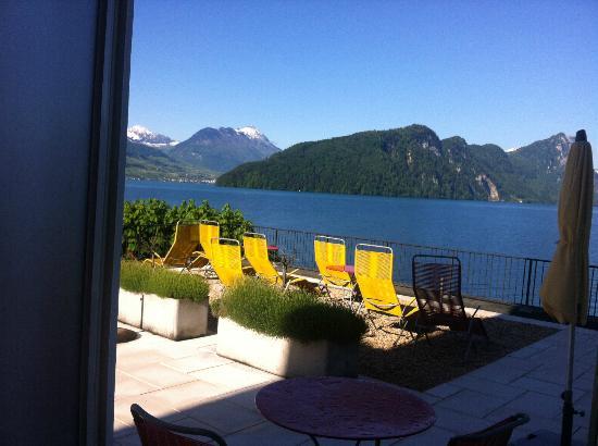 Hotel Terrasse Am See : Die Terrasse vom Hotelzimmer aus