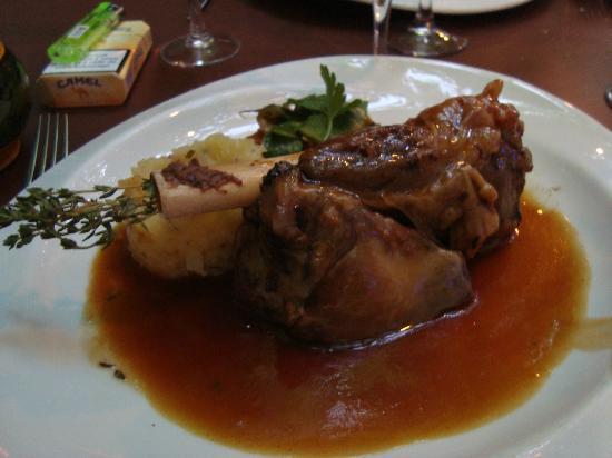 Le Platane: délicieuse souris d'agneau