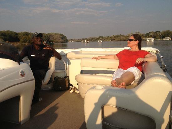 Victoria Falls River Lodge - Zambezi Crescent: Boat