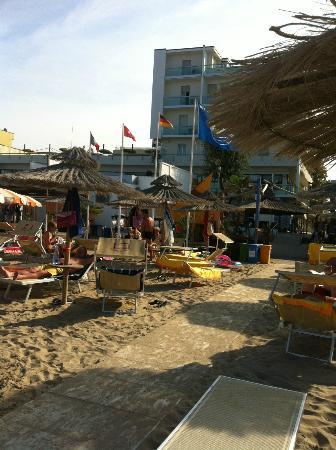 Hotel Igea Spiaggia : hotel visto dal lido 2