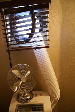 Peniche Barnum: Notre arrangement pour climatiser un peu la cabine