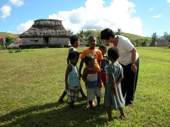 Nadi, Fiyi: The Village kids with my wife