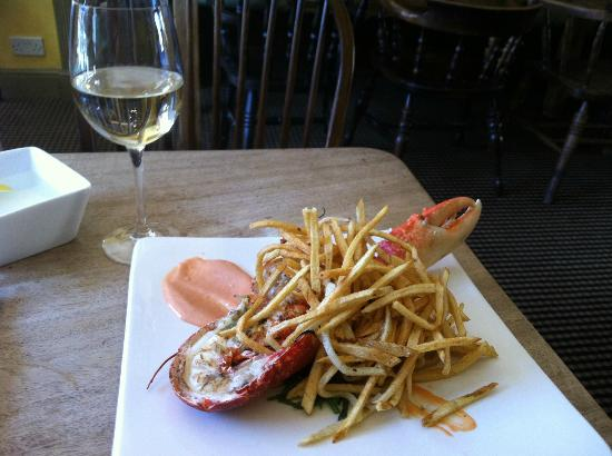 The Crown Hotel Restaurant: Lobster and chips at lunch