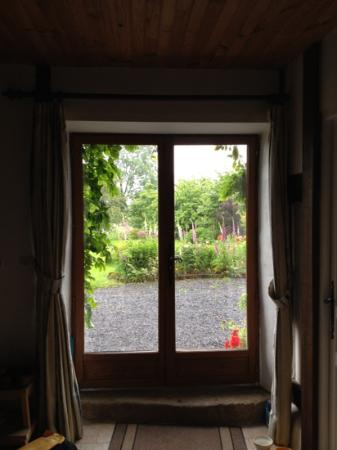 The Haven : looking out through the kitchen door.