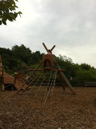 Ecorin Village: playground in the garden