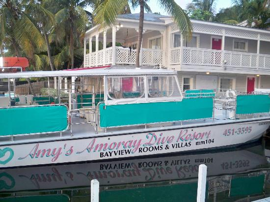 Amy Slate's Amoray Dive Resort: The boat for diving and snorkeling
