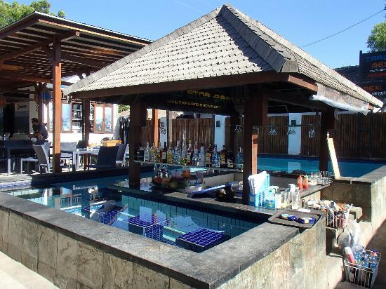 Trawangan Dive Resort: Swim-up bar