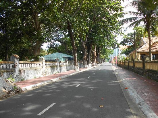 Con Dao Camping: street on Con Dao Island