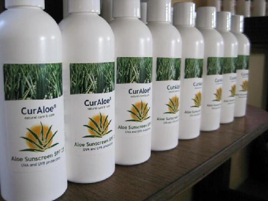 The Aloe Vera Plantation, Home of Curaloe : The Curaloe productline before our big rebranding!